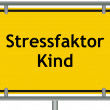 Stock Photo: Stress factor child sign