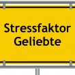 Stock Photo: Stress factor mistress sign