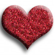 Foto Stock: Red heart, isolated