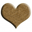 Golden heart — Stockfoto