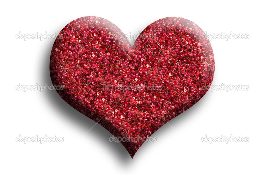 Red heart, isolated — Stock Photo #19084383