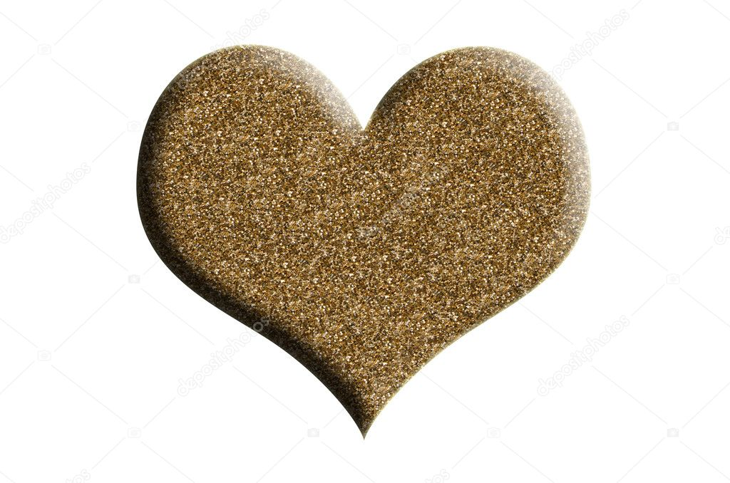Golden heart — Stock Photo #19084853