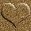 Golden heart on golden background — Foto de Stock