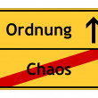 Sign: chaos - order - Stock Photo
