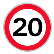 Stock Photo: Speed limit 20