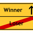 Foto de Stock  : Loser and winner