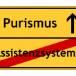 Royalty-Free Stock Photo: Assistance systems - purism sign