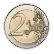 Stock Photo: 2 euro coin