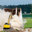 Stock Photo: Demolition of house