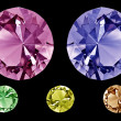 Colored diamonds — Stock Photo #40474995