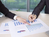 Analyzing business performance — Stock Photo