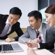 Stock Photo: Asian business team