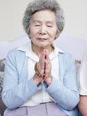 Senior asian woman — Stock Photo