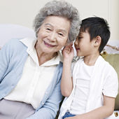 Grandma and grandson — Stock Photo