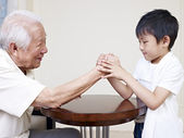 Grandpa and grandson — Stock Photo