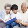 Stock Photo: Grandparents and grandson