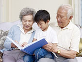 Grandparents and grandson — Stock Photo