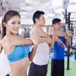 Group of people doing aerobics — Stock Photo