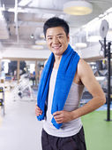 Man in gym — Stock Photo