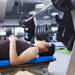 Weightlifting in gym — Stock Photo
