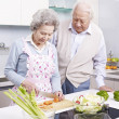 Senior couple in kitchen — Stock Photo #37100267