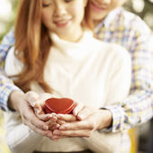 Young loving asian couple — Stock Photo