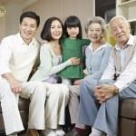 Three-generation family — Stock Photo