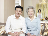 Senior mother and adult son — Stock Photo