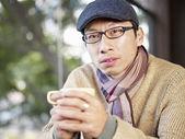 Man in coffee shop — Stock Photo