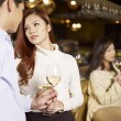 Young couple in bar — Stock Photo #47312749