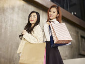 Women with shopping bags — Stock Photo