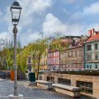 Riverside in the Centre of Ljubljana — Stock Photo