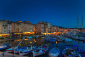 Sunset inn Sankt Tropez — Stock Photo