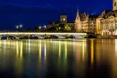 Night Zurich — Stock Photo