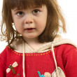 Little girl on the white background  — Stock Photo