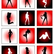 Royalty-Free Stock Imagem Vetorial: Dancing girls