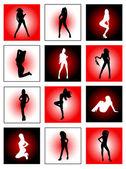 Dancing girls — Stock Vector
