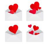 Hearts from envelopes — Stock Vector