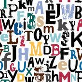 Seamless alphabet background — Stock Vector