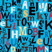 Bezešvé abeceda pozadí — Stock vektor