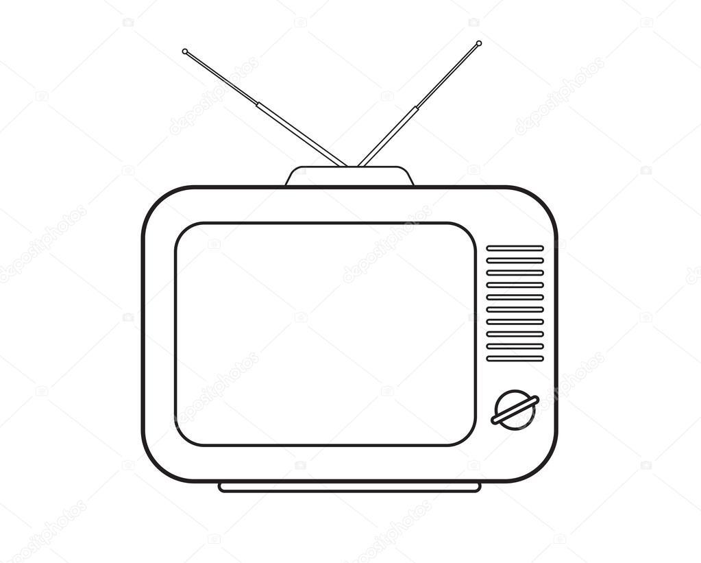 T l viseur de dessin image vectorielle cmeree 43957527 - Dessin television ...