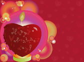 Valentines heart shaped candle — Stock vektor