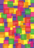 Abstract background - mosaic of colored squares — Cтоковый вектор