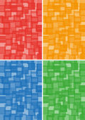 Red, orange, blue and green background of squares — Stock vektor