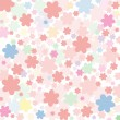 Background of pink flowers — Stock Vector