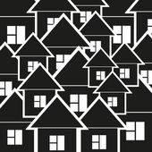Background of black and white houses — Stock Vector