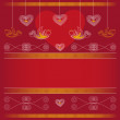 Background - Valentine's Day — Stockvectorbeeld
