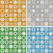 Set of modern backgrounds with circles — Stock Vector