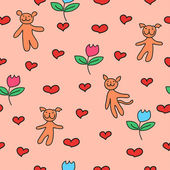 Cute background — Vector de stock