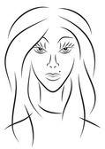 Portrait d'une femme — Vecteur